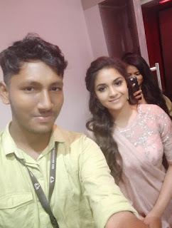 Keerthy Suresh with Cute and Lovely Smile with Fan at IFFI in GOA