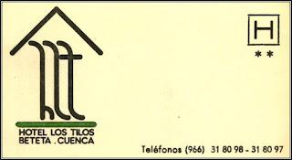 Antigua tarjeta del Hotel Los Tilos