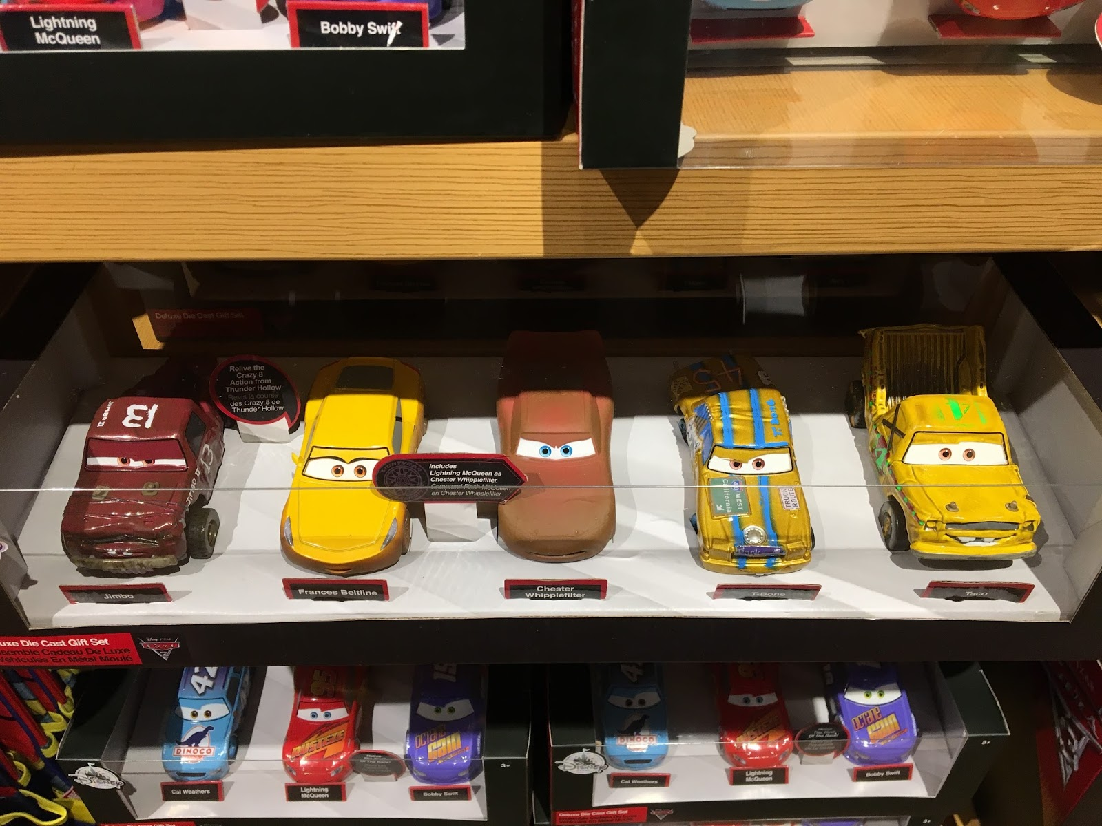 disney store cars 3 merchandise toys display 2017