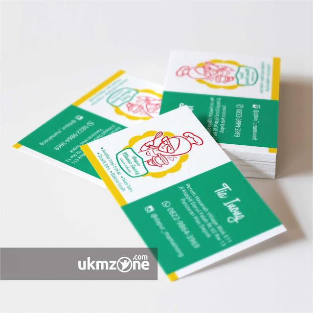 Desain kartu nama untuk usaha UMKM / UKM ./ IKM kuliner Depok Dapur Mama Inong - UKM ZONE