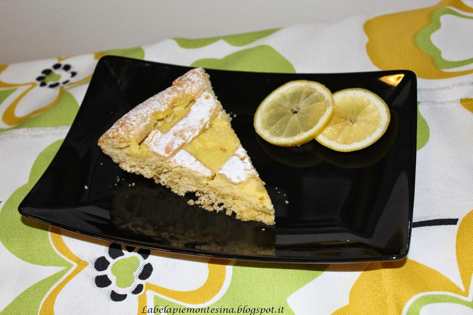 Fotografia del dolce crostata con crema di limoni dal blog La bela Piemontesina