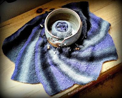 Wingspan knitted shawl