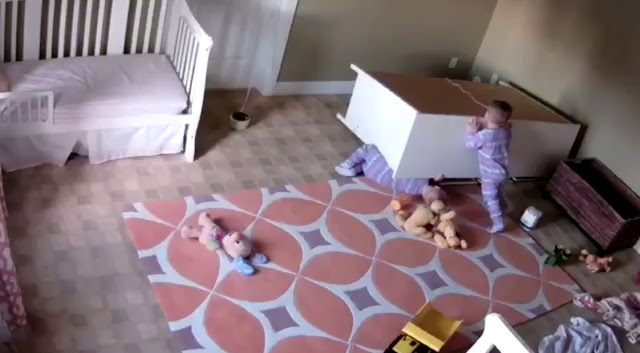 Two year old saves twin brother, Toddler, Child, Kid, Utah, Parents, Video, Viral, Brother, Cupboard, Furniture, Bowdy Shoff, Brock Shoff, dresser, full video,