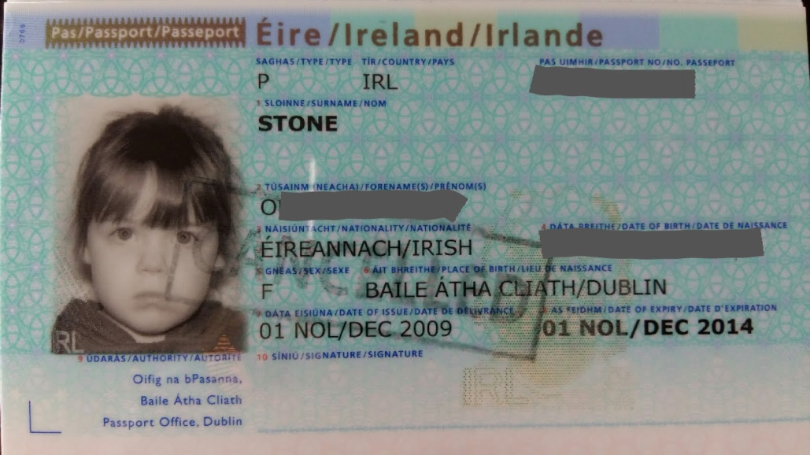 Cherrysue doin the do how to get babys first passport in ireland orla is not happy with the camera falaconquin