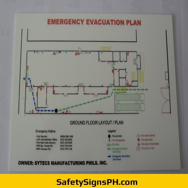 Luminous Emergency Evacuation Plan