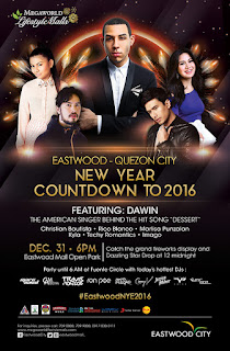 Eastwood City New Year Countdown to 2016: Party From Sunset To Sunrise