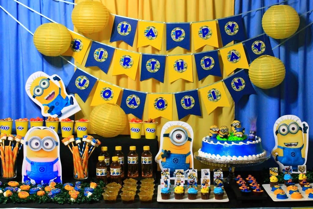 Festa com tema Minions