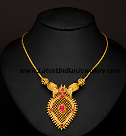 trendy light weight necklace gallery with ruby and emerald