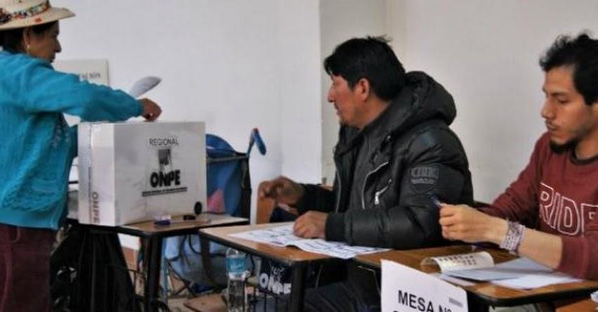 ONPE: Más de 9 millones de electores sufragarán en segunda vuelta regional - www.onpe.gob.pe