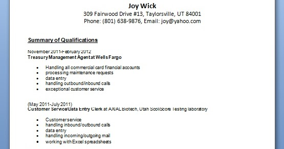 data entry resume layout format in word free download
