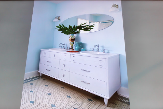 old dresser becomes bathroom vanity