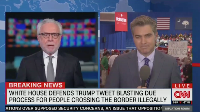 'Go Home, Jim!' Trump Supporters Heckle 'Fake News Jim' Acosta Ahead of Rally