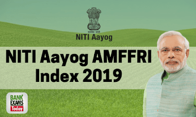 NITI Aayog AMFFRI Index 2019: Highlights