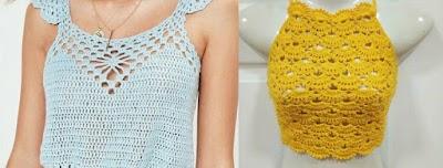 Top crochet patrones
