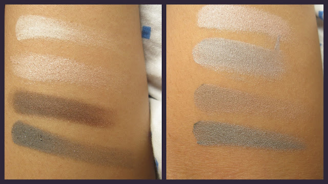 Oriflame Pure Colour Eyeshadow Palette Nudes & Grey Swatches