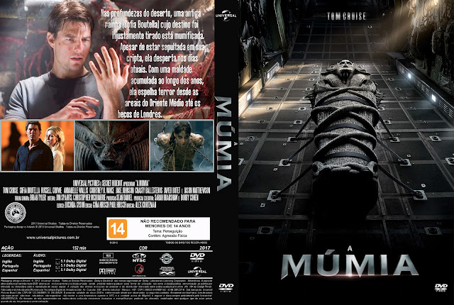 Capa DVD A Múmia (2017)