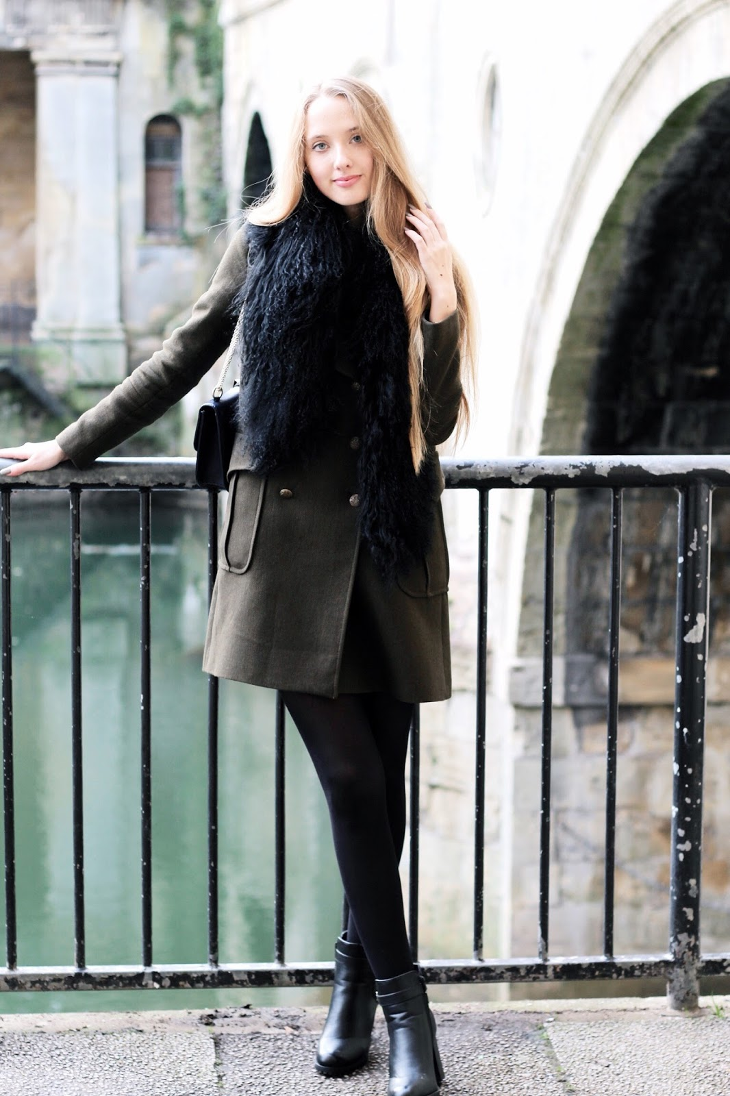 Styling a long military coat for winter