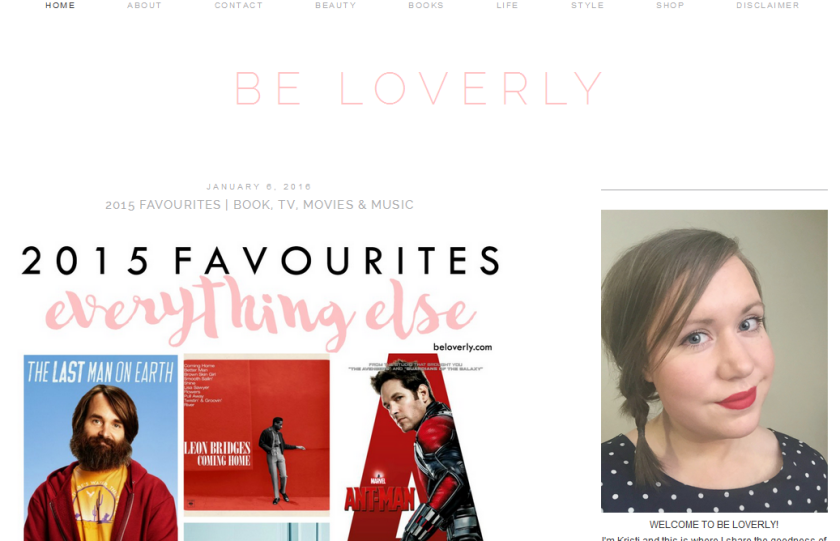 blog of the month, bbloggers, bbloggersca, be loverly,