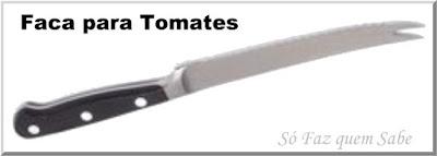 Foto de uma Faca para Tomates que em inglês é denominada Tomato Knife