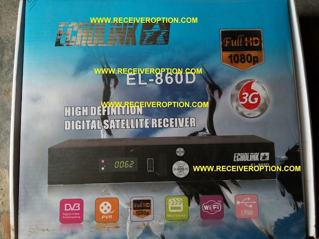 ECHOLINK EL-860D HD RECEIVER BISS KEY OPTION
