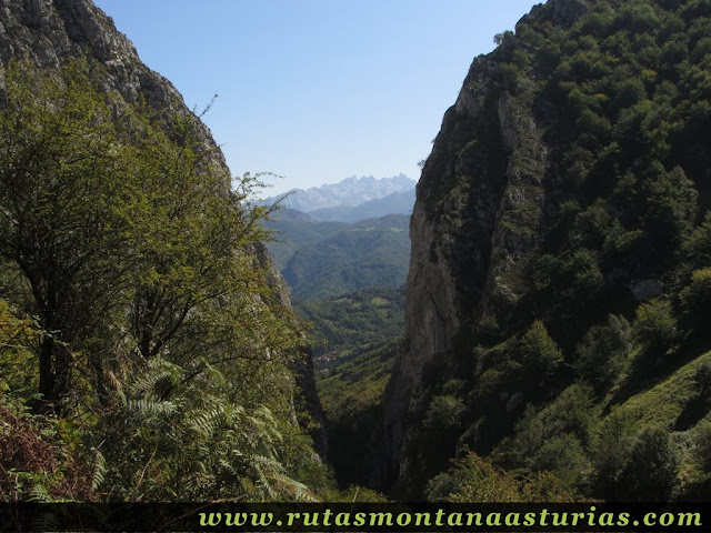 Ruta circular Taranes Tiatordos: Vista atrás por la Foz de la Escalada
