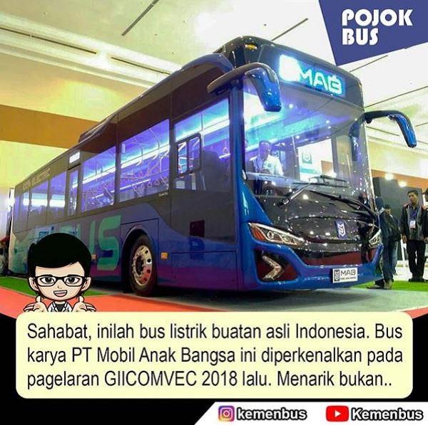 Prototype Bus Listrik Indonesia
