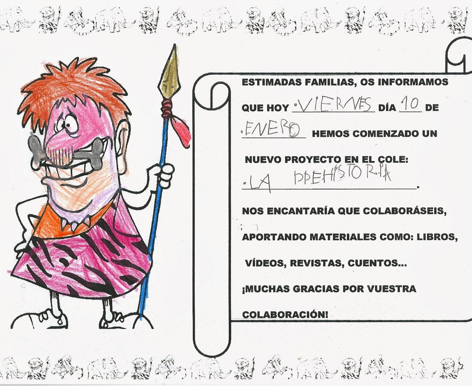 C P Las Anejas Ciclo Infantil Proyecto La Prehistoria