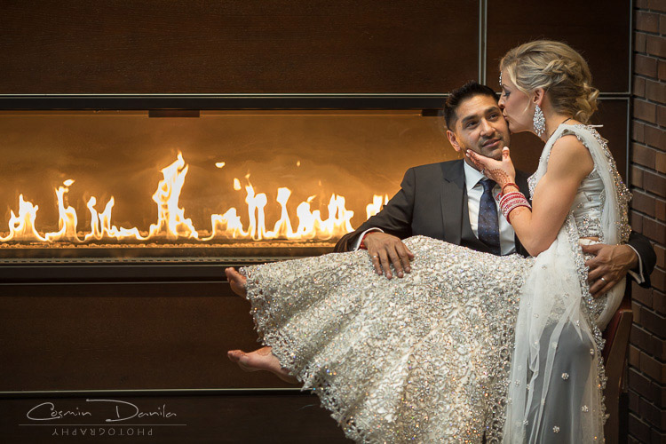 Hindu Wedding Photography Fusion Marriage Calgary Pictures Downtown Photoshoot Delta Hotel
