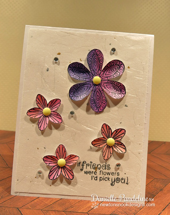 Friendship  Flower Card by Danielle Pandeline | Beautiful Blossoms stamp set by Newton's Nook Designs