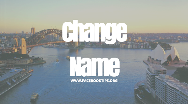 How to change name for Facebook