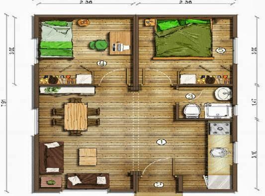 planos casas modernas octubre 2013. Black Bedroom Furniture Sets. Home Design Ideas