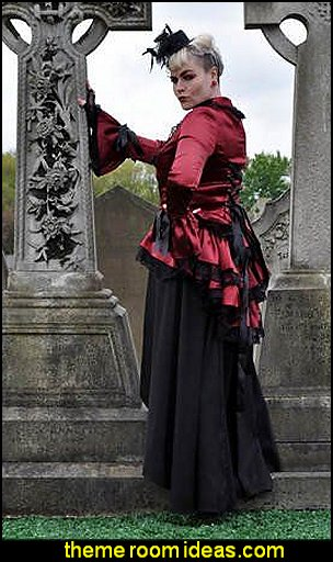 Satin Corset Bustle Lace Jacket Gothic Steam-Punk.