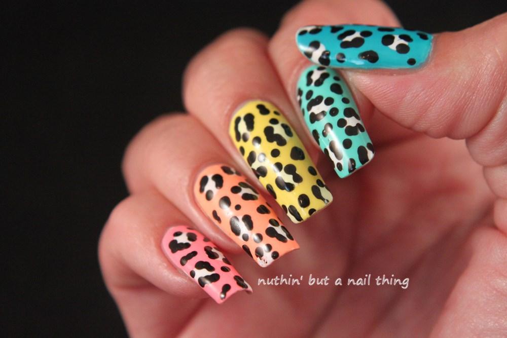 Skittle leopard print