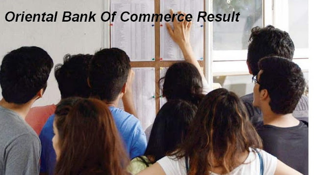 Oriental Bank Of Commerce Result
