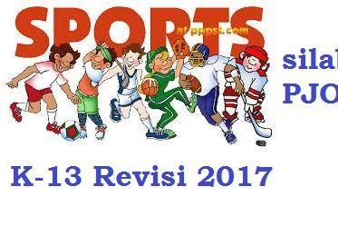 Silabus PJOK SD/MI Lengkap Kelas 1, 2, 3, 4, 5, 6 Semester 1 dan 2 Kurikulum 2013 Revisi 2017