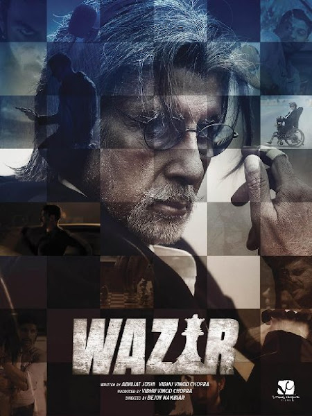 Poster Of Wazir 2016 480p 1CD DVDRip Hindi Full Movie Download