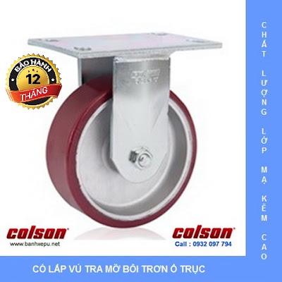 Bánh xe chịu lực 675kg Colson Mỹ càng cố định 8 inch | 6-8298-939 banhxedayhang.net