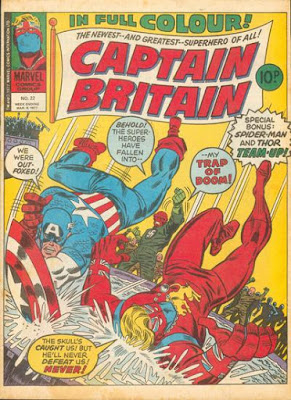 Marvel UK, Captain Britain #22, Captain America and the Red Skull