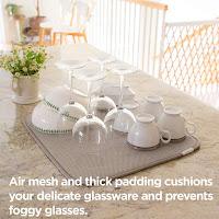coop home goods microfiber dish drying mat