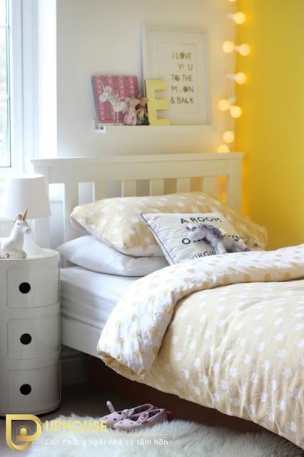Phòng ngủ màu vàng nhạt 03