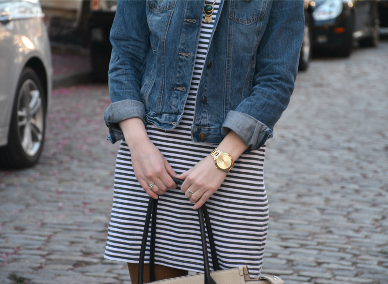 Striped Tee Dress | Organized Mess
