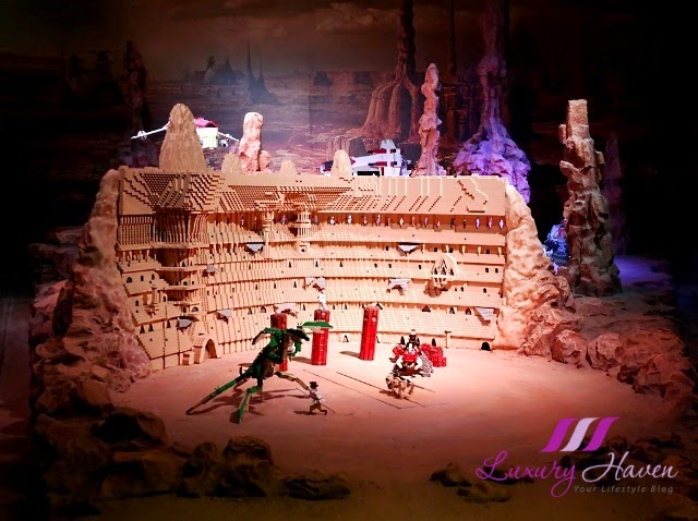 lego star wars miniland model display geonosis review