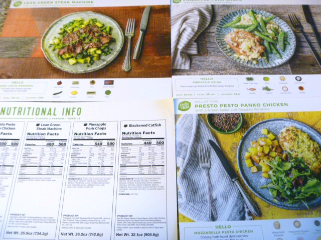 Hello Fresh meal service pictures - Slice of Southern