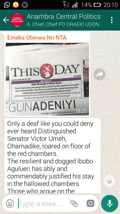 I regret To write this in response to you Sir Emeka Obinwa