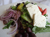 The Greek Salad from Opa Grill - Greek & American Cuisine in Parker, Colorado