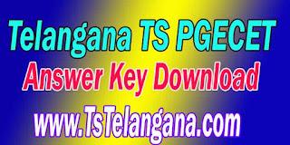 Telangana TS PGECET 2017 Answer Key Download Telangana Postgraduate Engineering Common Entrance Test Answer Key Download