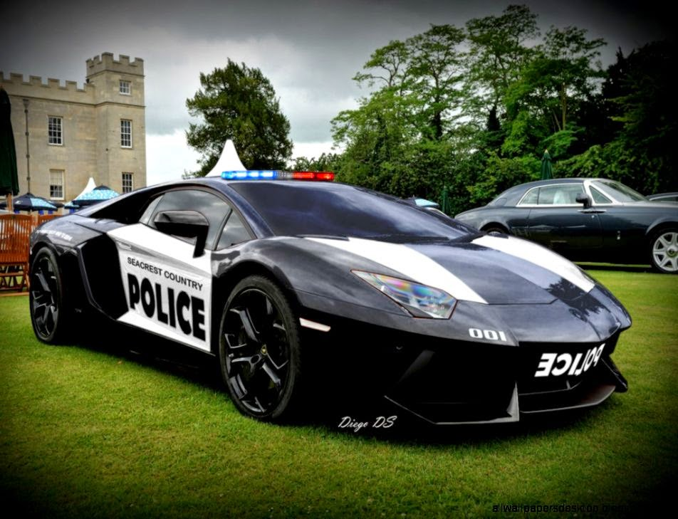 Police Car Lamborghini Reventon Hd Wallpaper All