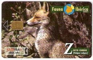 Tarjeta telefónica Zorro común (Vulpes vulpes)