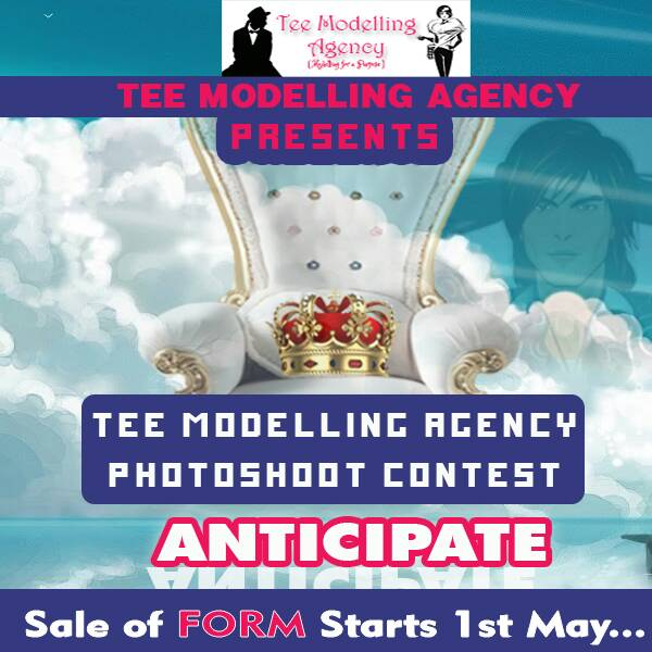 Tee Modelling Agency Photoshoot Contest form now on sale by 1st of may 2017.-check out for more details