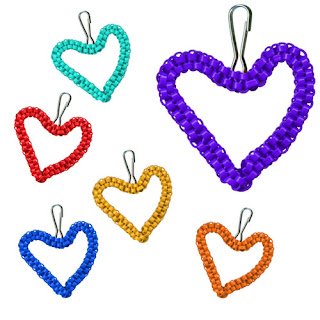 DIY Crafting: Cute *Heart* shaped Zipper Pull from Rexlace Plastic Lacing